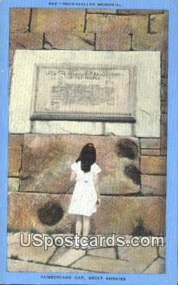 Rockefeller Memorial - Cumberland Gap, Tennessee TN Postcard