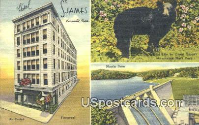 Hotel St James - Knoxville, Tennessee TN Postcard