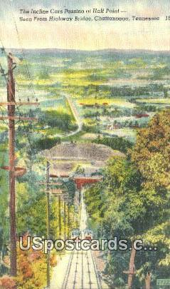 Incline Cars - Chattanooga, Tennessee TN Postcard