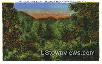 Alum Cave Peaks - Great Smoky Mountains National Park, Tennessee TN Postcard