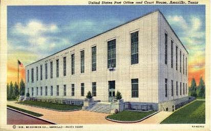 United States Post Ofiice  - Amarillo, Texas TX Postcard