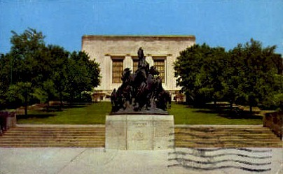 Mustang Monument - Austin, Texas TX Postcard