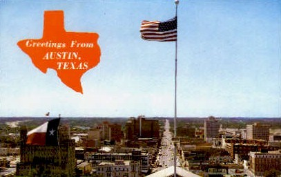 Congress Avenue - Austin, Texas TX Postcard