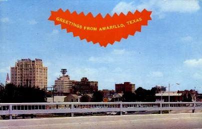 Downtown - Amarillo, Texas TX Postcard