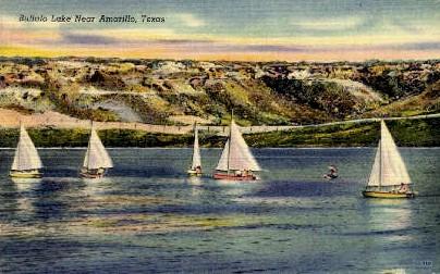 Buffalo Lake  - Amarillo, Texas TX Postcard