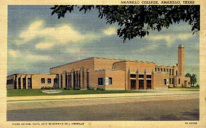 Amarillo College - Texas TX Postcard
