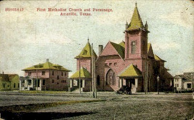 First Methodist Church Parsonage - Amarillo, Texas TX Postcard