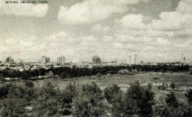 Skyline - Amarillo, Texas TX Postcard