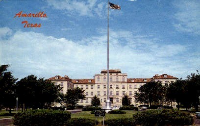 Veterans Hospital - Amarillo, Texas TX Postcard