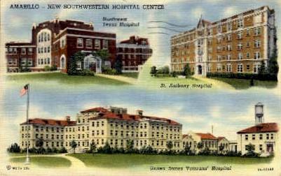 United States Veterans Hospital - Amarillo, Texas TX Postcard