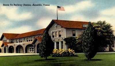 Sante Fe Railway Station - Amarillo, Texas TX Postcard