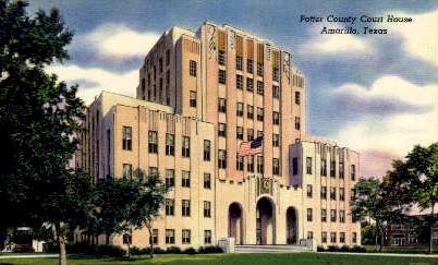Potter County Court House - Amarillo, Texas TX Postcard