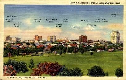 Elwood Park - Amarillo, Texas TX Postcard