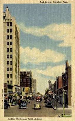 10th Avenue - Amarillo, Texas TX Postcard