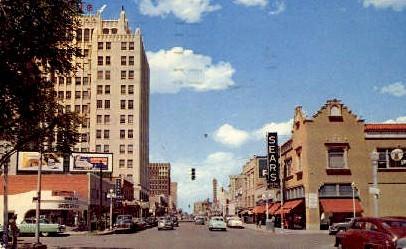 Polk Street  - Amarillo, Texas TX Postcard