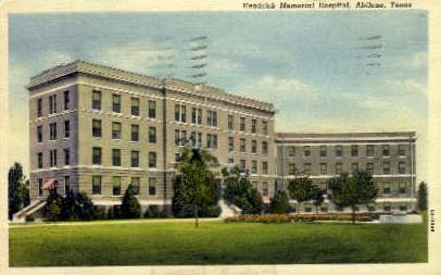 Hendrick Memorial Hospital - Abilene, Texas TX Postcard