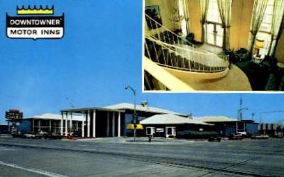 Downtowner Motor Inn - Abilene, Texas TX Postcard