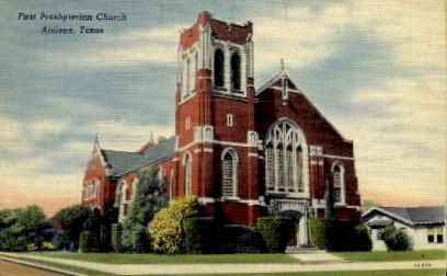 First Presbyterian Church - Abilene, Texas TX Postcard