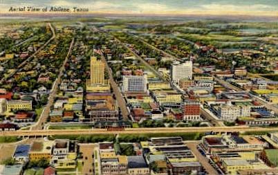 Aerial View - Abilene, Texas TX Postcard