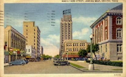 North Third Street - Abilene, Texas TX Postcard