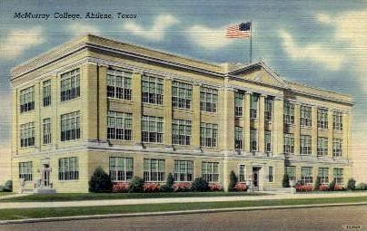 McMurray College - Abilene, Texas TX Postcard