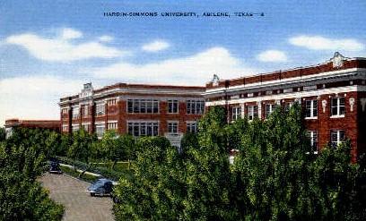 Hardin-Simmons University - Abilene, Texas TX Postcard