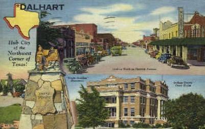 Hub City - Dalhart, Texas TX Postcard