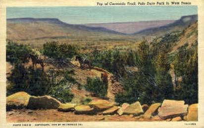 Coronado Trail - Palo Duro State Park, Texas TX Postcard