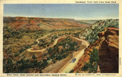 Goodnight Trail - Palo Duro State Park, Texas TX Postcard
