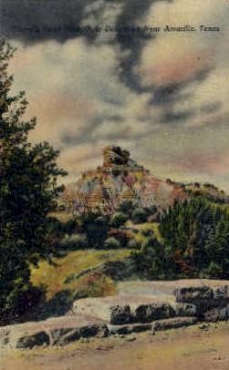 Camels Head Peak - Amarillo, Texas TX Postcard