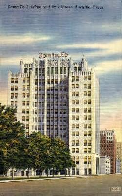 Sante Fe Building and Polk Street - Amarillo, Texas TX Postcard