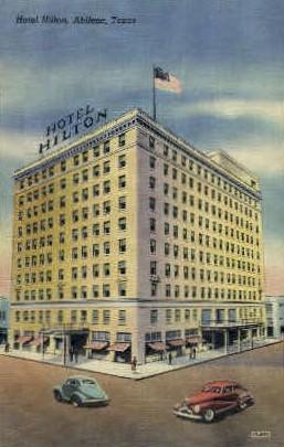 Hotel Hilton - Abilene, Texas TX Postcard