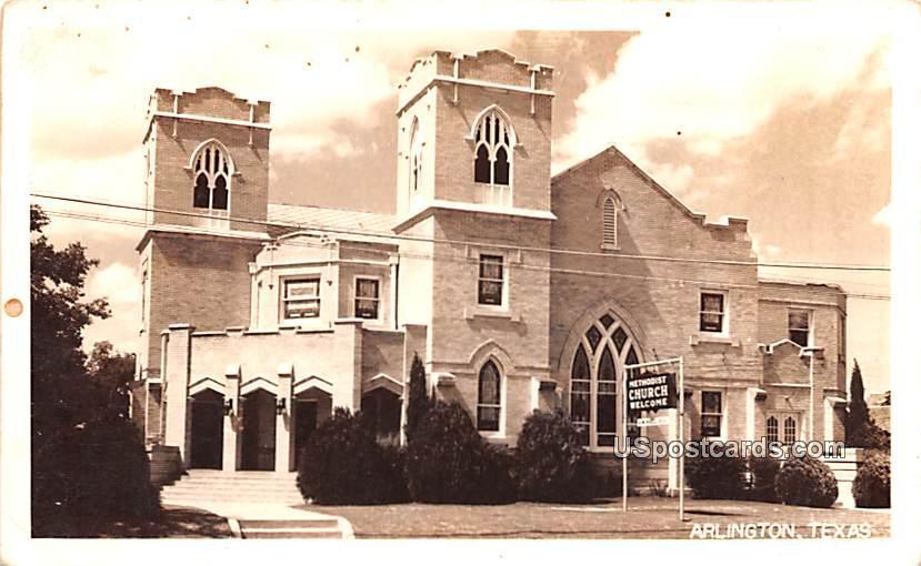 Methodist Church - Arlington, Texas TX Postcard