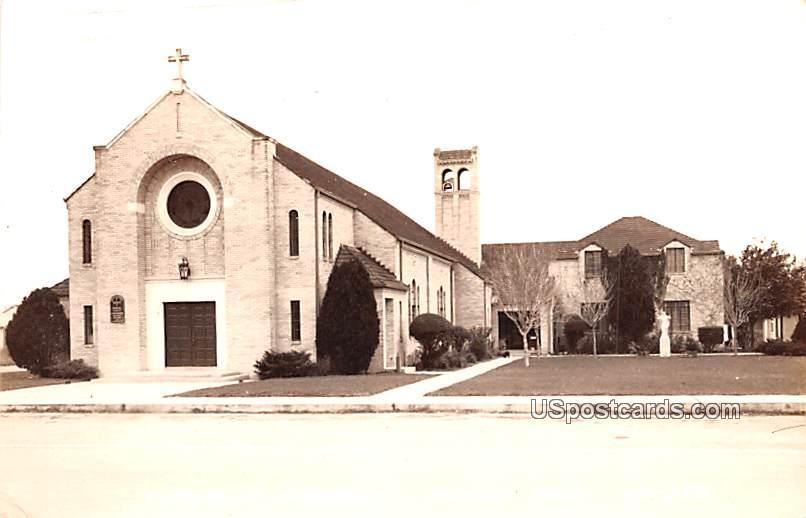 Catholic Church - Alice, Texas TX Postcard