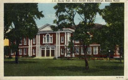 Mary Hardin Baylor College - Belton, Texas TX Postcard