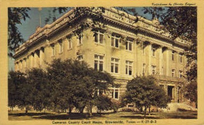 Cameron County Court House - Brownsville, Texas TX Postcard