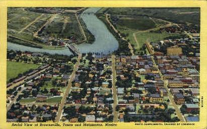 Aerial View - Brownsville, Texas TX Postcard
