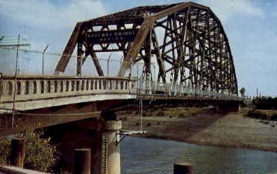 The International Bridge - Brownsville, Texas TX Postcard