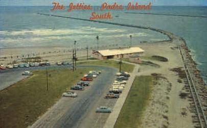 The Jetties - Brownsville, Texas TX Postcard