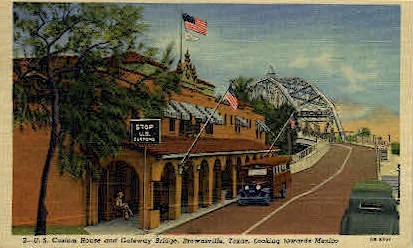 U. S. Custom House - Brownsville, Texas TX Postcard