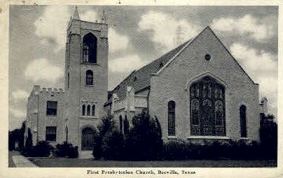 First Presbyterian Church - Beeville, Texas TX Postcard