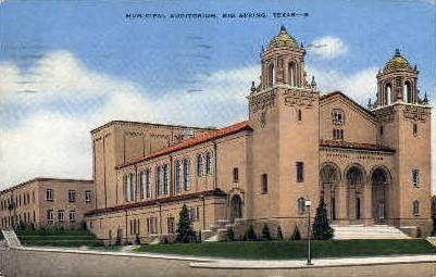 Municipal Auditorium - Big Spring, Texas TX Postcard