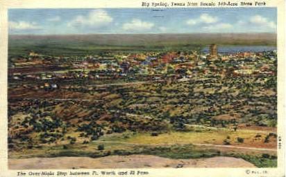 The Overnight Stop - Big Spring, Texas TX Postcard