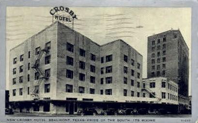 Crosby Hotel - Beaumont, Texas TX Postcard