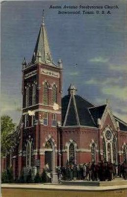 Austin Avenue Presbyterian Church - Brownwood, Texas TX Postcard