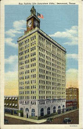 San Jacinto Life Insurance Building - Beaumont, Texas TX Postcard