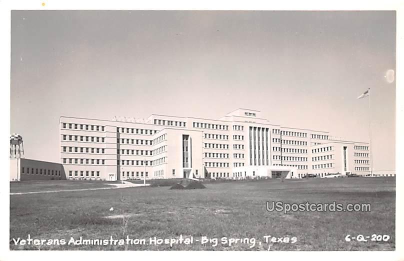 Veterans Administration Hospital - Big Spring, Texas TX Postcard