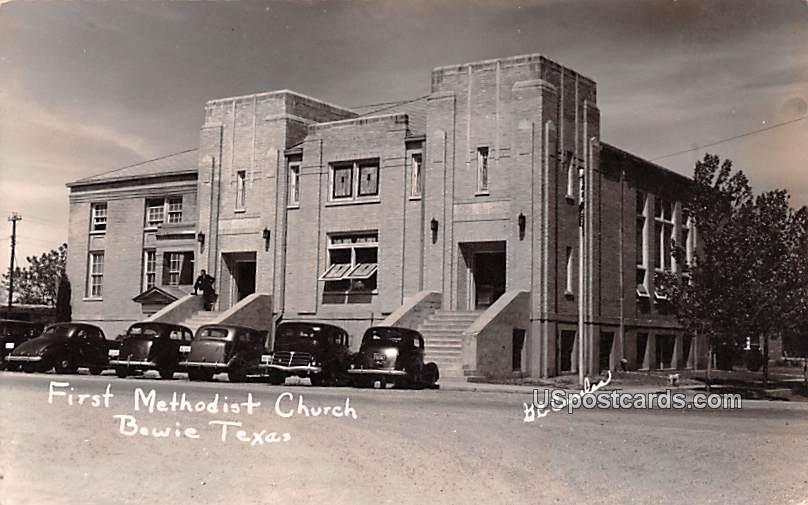 First Methodist Church - Bowie, Texas TX Postcard