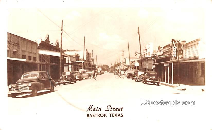 Main Street - Bastrop, Texas TX Postcard