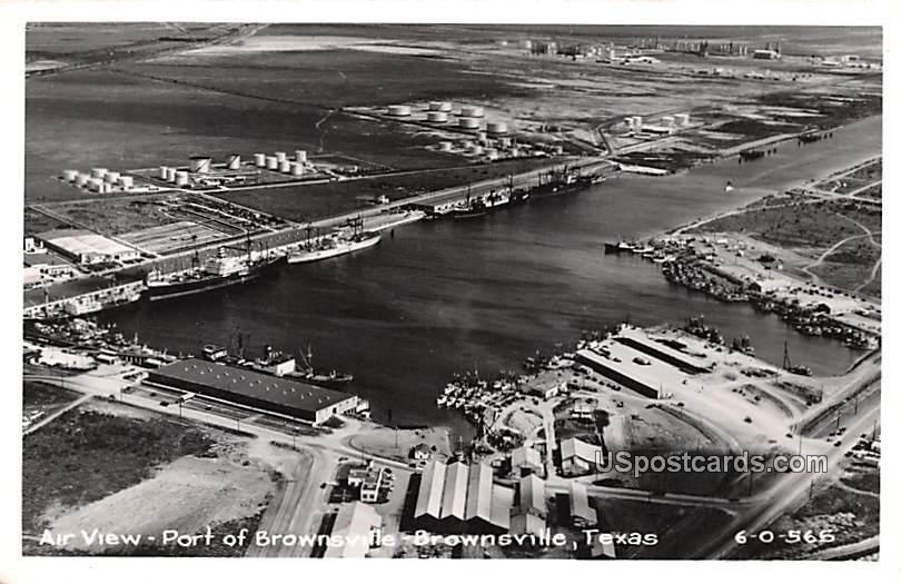 Air View - Brownsville, Texas TX Postcard